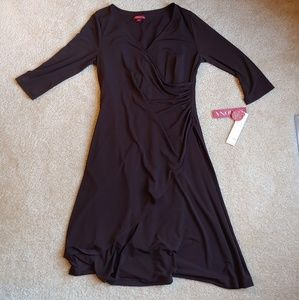 NWT merona side scrunch brown dress